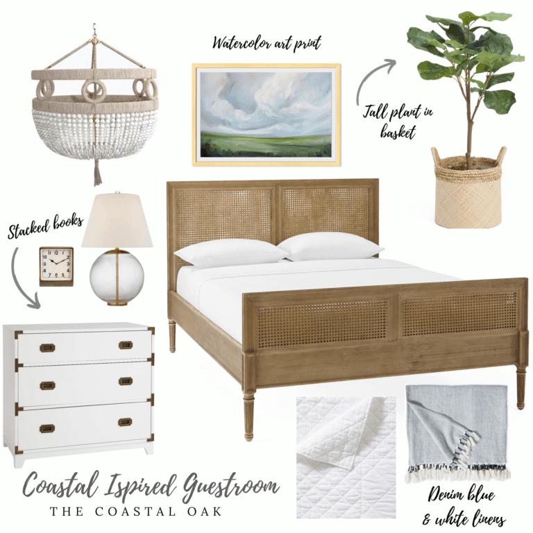 Coastal Inspired Bedroom – Splurge or Save