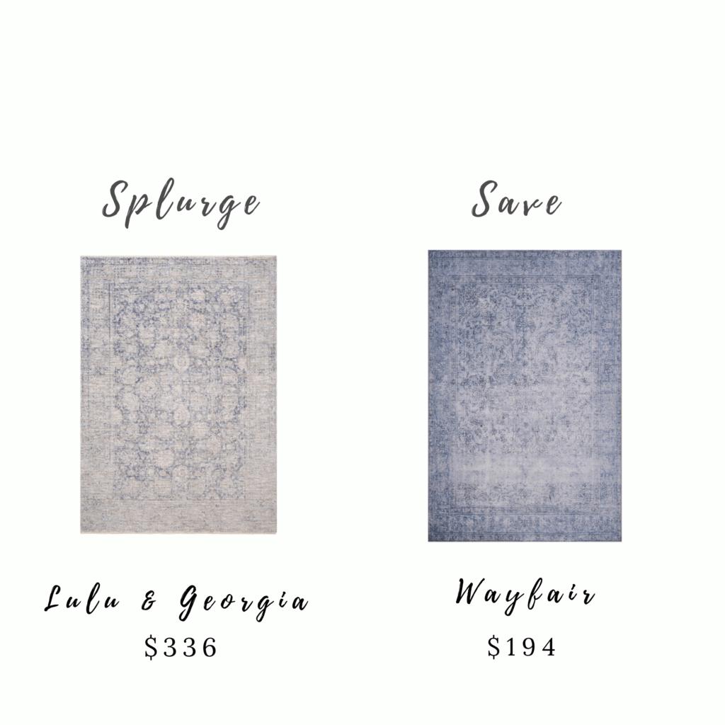 Splurge and Save Rugs