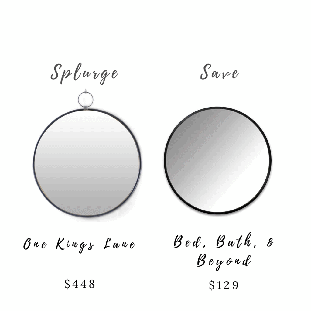 Splurge and Save Mirror