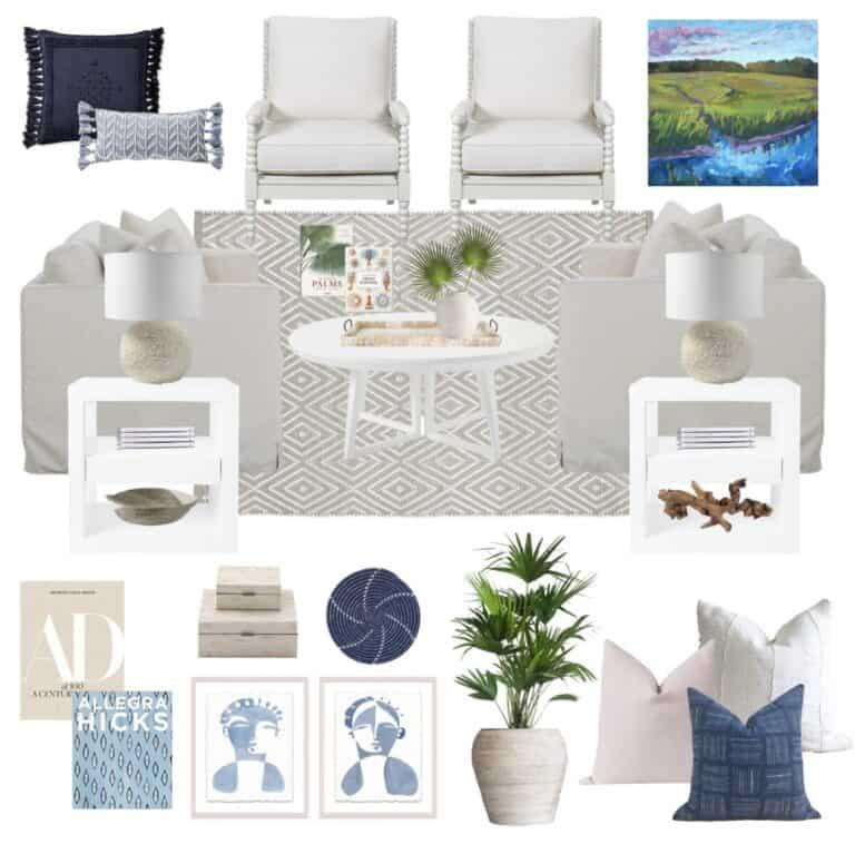 Living Room Makeover + Coastal Design Inspiration
