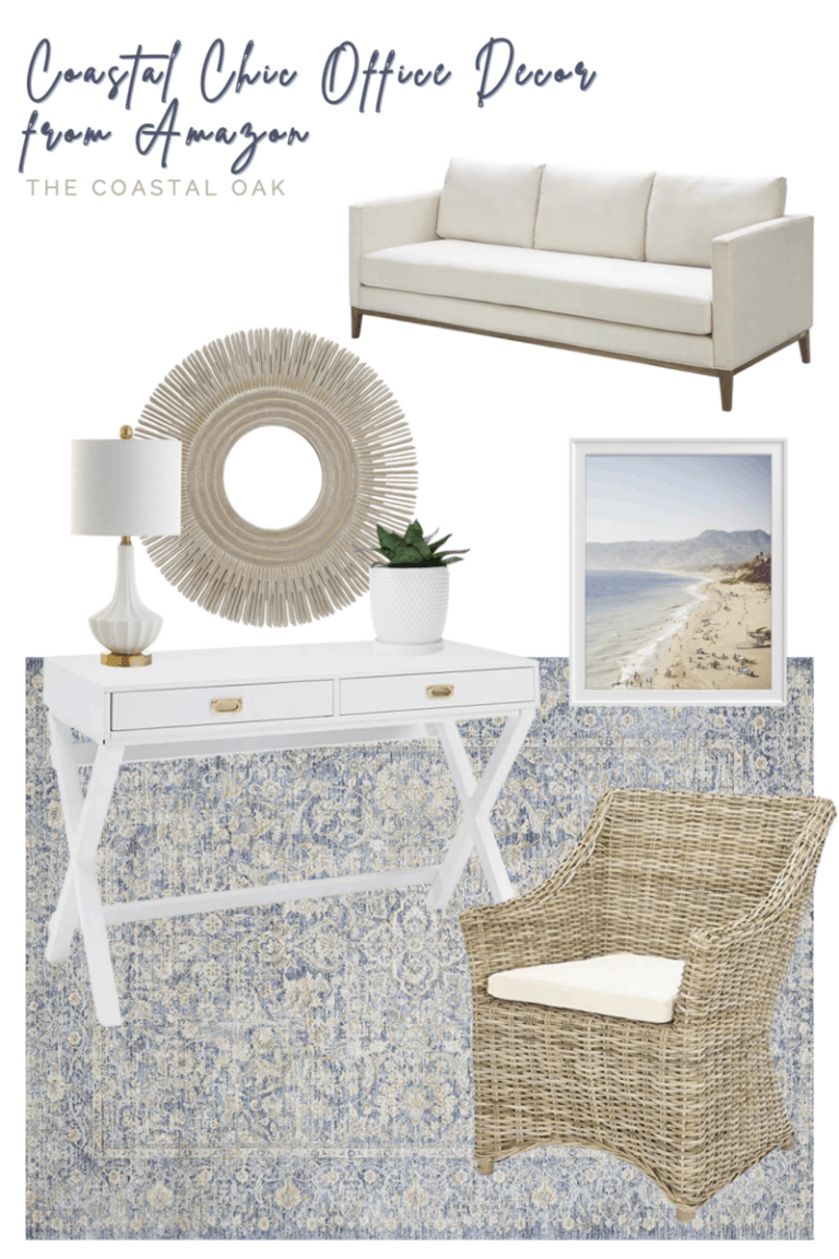 Coastal Chic Office Inspiration with Amazon Home