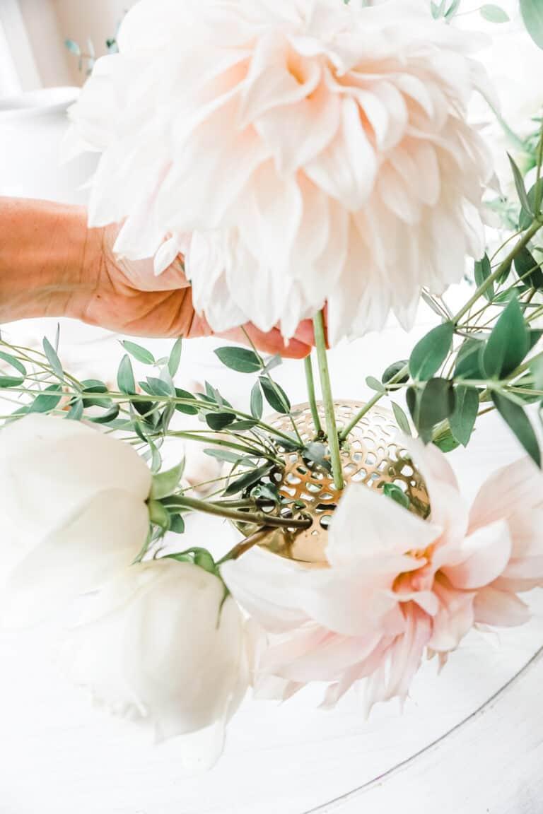 Floral Arrangements Using Frog Lids