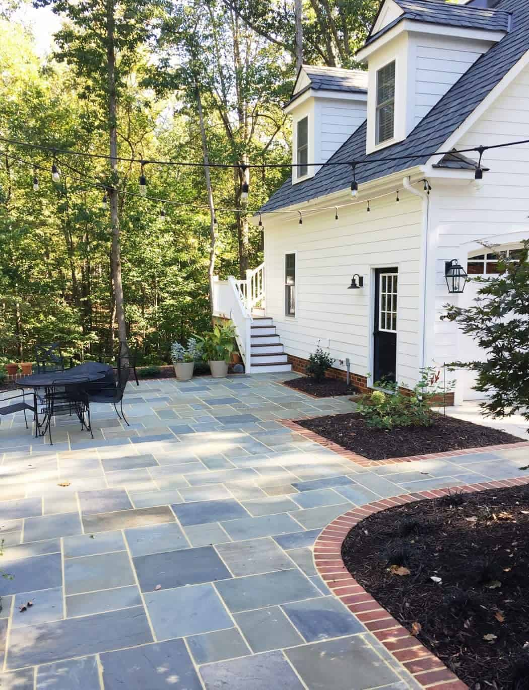 Bluestone pavers used in hardscaping.
