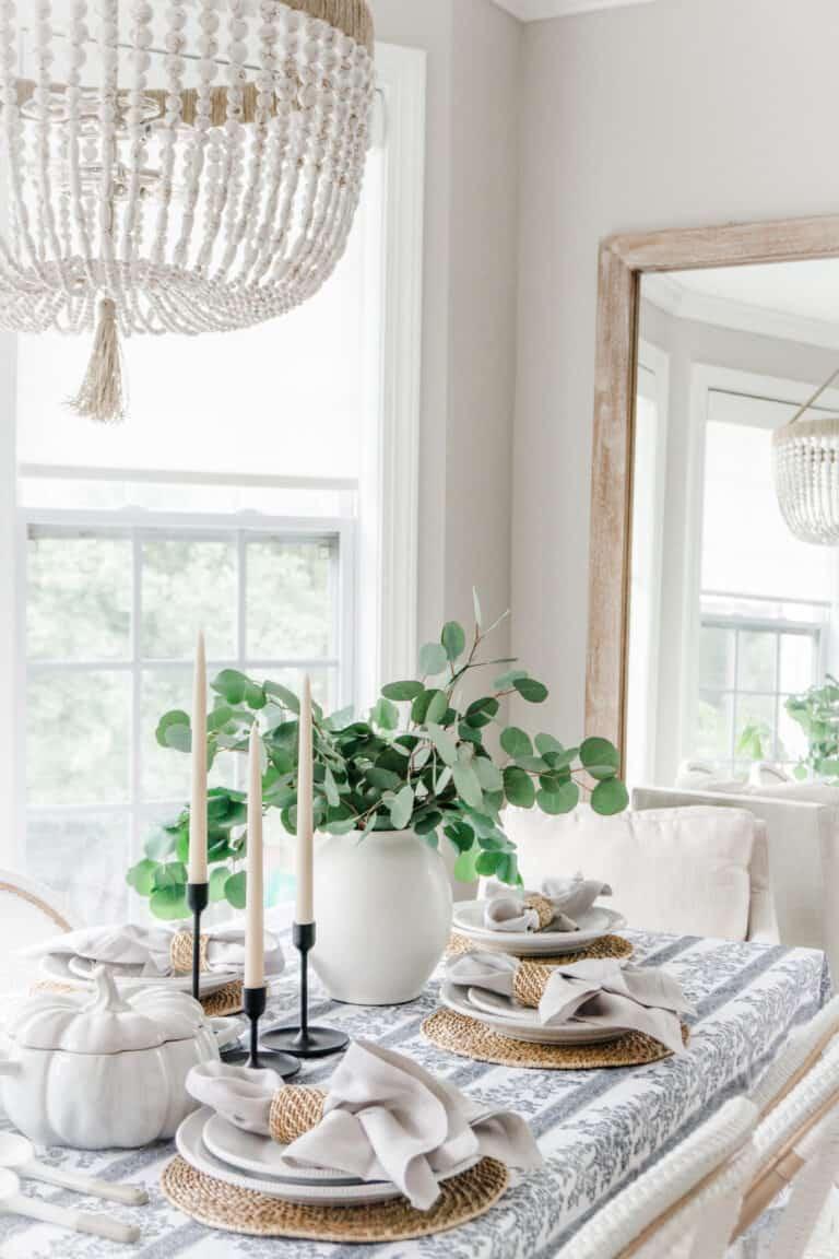 Simple Fall Tablescape Ideas